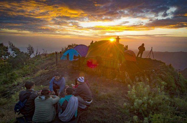 Camping At Mount Bromo Indonesia