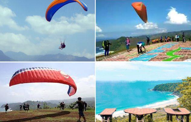 Paragliding Tourism in Modangan Beach